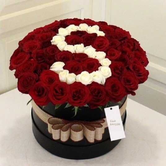 Kutu İçinde Güllerden Özel Harf