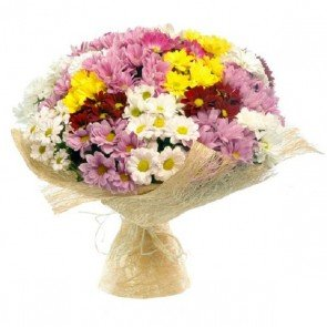 Karışık Krizantem Çiçeği Buketi