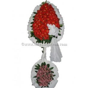 Ayaklı Sepet: Kırçıllı Karanfil ve Gerbera Tasarımı Düğün, Nikah ve Açılış Sepeti